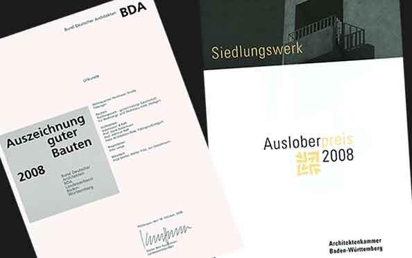 Auszeichnung guter Bauten durch den Bund Deutscher Architekten und Ausloberpreis der Architektenkammer Baden-Württemberg